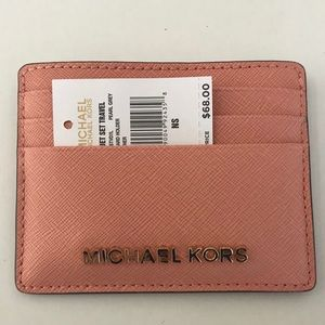 Light Pink Michael Kors ID and card holder